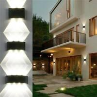 Aluminum Sconce Outdoor LED Wall Lamp Garden Corridor Balcony Up Down Lights UK