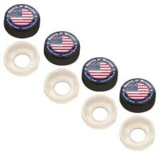 4 Black Custom License Plate Frame Screw Snap Caps Covers Smith & Wesson