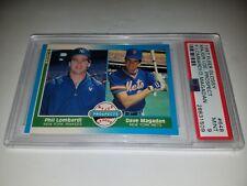 1987 FLEER GLOSSY #648 DAVE MAGADAN ROOKIE CARD RC PSA 9 MINT POP 2