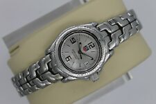 Tag Heuer WT1416 Silver Professional Watch Womens Link $2K MINT Crystal SS