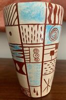 Nice Unique Vintage 60s Ceramic Vase Mid Century Modern Pottery Signed Lightfoot