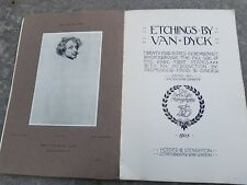 24 Etchings By Van Dyck in Rembrandt Photogravures Full Size Rare First States