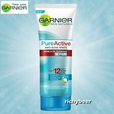 1x100 mL. Garnier PURE ACTIVE anti ACNE White OIL clearing SCRUB FOAM Face wash