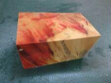 FF- FLAME BOX ELDER BURL  DELUXE KNIFE BLOCK/SCALES/ CALLS/ PEN BLANKS--F--46