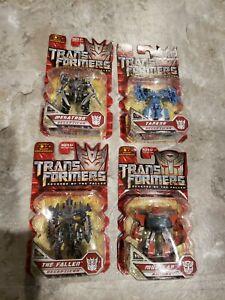 "Transformers ""TANKOR, MUDFLAP, MEGATRON and THE FALLEN"" Legends Class ROTF ""NEW"""