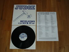 JUDGE Revelation Can Suck It LP Gorilla Biscuits Youth Of Today Bold SickOfItAll