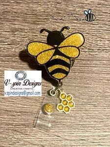 Bee Badge Reel/ID Holder/nurses/teachers/students