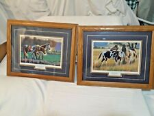 "(2) Wild Horses Prints W/ Dark Oat Frames By ""Cynthie Fisher"""