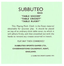 Subbuteo Playing Pitch Cloth Instructions Football, Cricket, Rugby Accessories