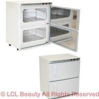 2 Cabinet Hot Towel Warmer & UV Sanitizer Sterilizer Beauty Spa Salon Equipment