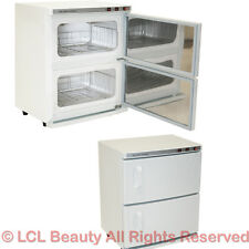 2 Cabinet Hot Towel Warmer & UV Sanitizer Sterilizer Beauty Spa Salon Equipment