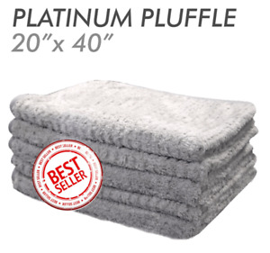 THE RAG COMPANY PLATINUM PLUFFLE 20 X 40 HYBRID WEAVE MICROFIBER TOWEL
