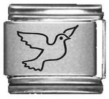 Clearly Charming Dove Laser Italian Charm
