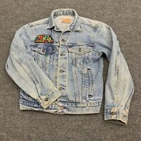 Vintage 90s New Kids On The Block Patch Levis Jean Jacket Extra Small Button Up