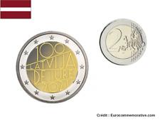 PREVENTE 2 Euros Commémorative Lettonie 2021 - 100 Ans Jure UNC