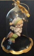 Enesco Precious Moments Glass Bell Dropping In For Christmas 1994 Pmi