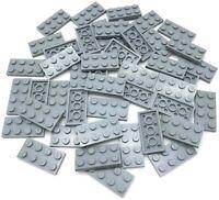 LEGO LOT OF NEW LIGHT BLUISH GREY 2 X 4 STUD PLATES PIECES PARTS