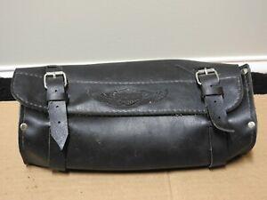 Harley Davidson Black Leather Windshield Bag