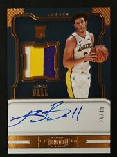 2017-18 Dominion Lonzo Ball RC Rookie 3-Colors Patch Jersey Auto Autograph 28/49