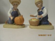 Vintage Denim Days Homco 1985 Home interior gift figures