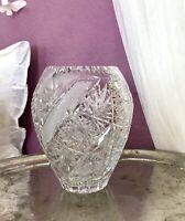 Edel! Erscheinung! Vintage Vase Glasvase Kristallglas wunderschön!