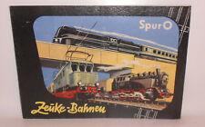 Originaler Katalog Zeuke Bahnen Spur 0 um 1957 !