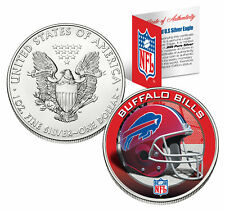 BUFFALO BILLS 1 Oz American Silver Eagle $1 US Coin Colorized NFL LICENSED