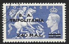 Brit. Occ. Italian Colonies (Tripolitania) 1951 240l. on 10/- Ultramarine SG T34