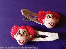 Girls Hair Clip ABBY CADABBY (2x snap hairclip) Sesame Street Elmo Party Favour