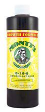 Monty's 16oz All Purpose Growth 8-16-8 Liquid Plant Food Rose Flower Fertilizer