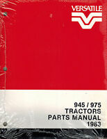 "VERSATILE 945 975  TRACTOR  PARTS MANUAL ""NEW""  1983"