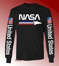 New NASA United States Space Black Long Sleeve Classic Mens T-shirt