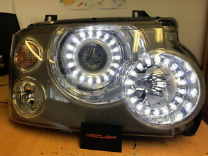 Range Rover Vogue L322 Staggered LED Headlight Upgrade
