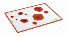 "CHARLES VIANCIN LG POPPY FLEXIBLE SILICONE CUTTING BOARD 11X 15"" BAR OR KITCHEN"