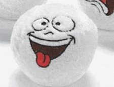 1 Plush Funny Face Snowball*Free S/H when u buy 6 items from my store