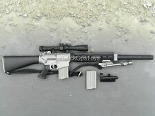 """1/6 Scale Toy Special Ops """"Stanley"""" - Black SR 25 Sniper Rifle w/Bipod"""