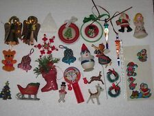 Lot Of Vintage Christmas Decorations Ornaments Homemade Murano Glass Toys Deer