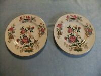 "Two Wedgewood Charnwood WD3984 Pattern 8"" Salad Plates, English Bone China"