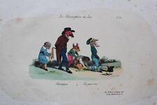 Jean-Jacques GRANDVILLE Récréation pl.23 Métamorphoses RARE 1e ed. 1828 BULLA