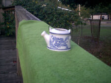 Vtg Ceramic Home Sweet Home Water Can/Teapot Wire Handle Toothpick/Match Holder