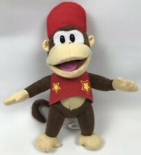 "Official Nintendo Super Mario Diddy Kong - Soft Toy Plush - Toy Monkey 12"" Retro"