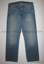 7 FOR ALL MANKIND Jeans MENS 31 x 29 SLOUCHY Coral Gables Wash Denim Buttonfly