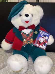 """Walmart Snowflake Teddy Bear Plush Christmas 1997 Christmas Holiday 22"""" Tag"""