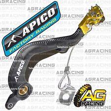 Apico Black Yellow Rear Brake Pedal Lever For Suzuki RM 250 2001-2008 Motocross