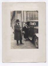 PHOTO ANCIENNE Auto Automobile Voiture Couple Vers 1930 Peugeot Citroën Renault