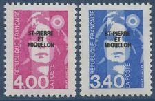 SAINT PIERRE ET MIQUELON N°555/556** Marianne du Bicentenaire TB, 1992 SPM MNH