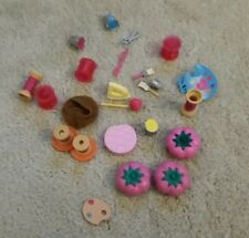 Barbie/doll painting & sewing supplies craft lot buckets pallet