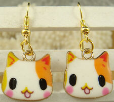 1pair Women Fashion accessories Lady Elegant cat charm dangle Earrings hook 4gUf