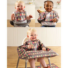 Bibetta Wipeezee wipe clean waterproof weaning baby bibs sleeved coverall