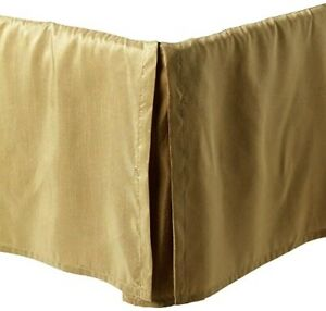 "NEW Croscill GOLD Bed Skirt CAL KING Dust Ruffle *** 15"" drop *** SHIMMER!!!"